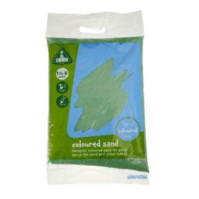 elc green coloured play sand - 5kg bag