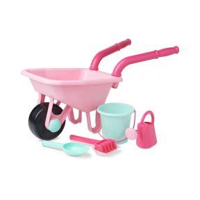 elc wheelbarrow set - pink