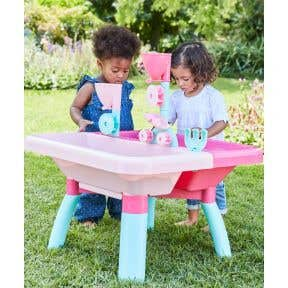 elc sand and water table - pink