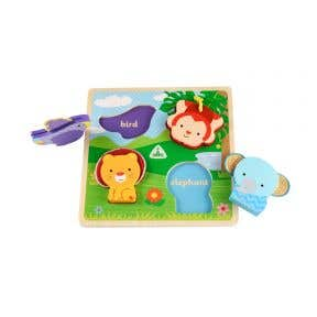 touch and feel wooden puzzle