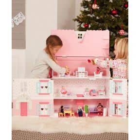 elc deluxe rosebud doll'shouse with furniture
