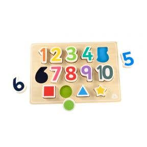 ELC shape and number puzzle