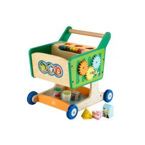 elc wooden shopping trolley