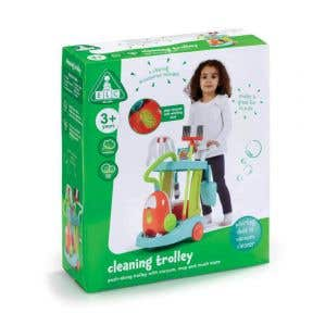 elc cleaning trolley set with vacuum cleaner