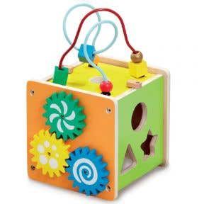 ELC Wooden Activity Cube - Small