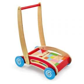 Woodlets Trolley with Building Blocks