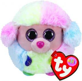 TY Toys Beanie Puffies Rainbow Poodle
