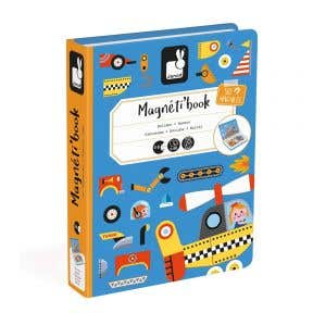 Janod Racers Magnetic book