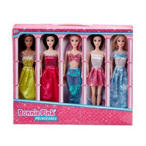 Bonnie Pink Princess 5 Pack Fashion Dolls