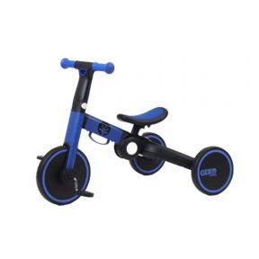 Geko 5 In 1 Balance Bike with Stick - Navy Blue