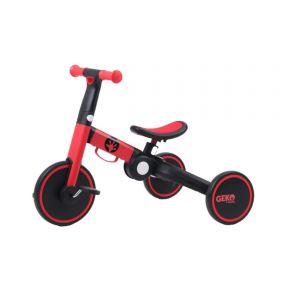 Geko 5 In 1 Balance Bike with Stick - Red