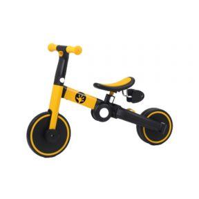 Geko 5 In 1 Balance Bike with Stick - Yellow