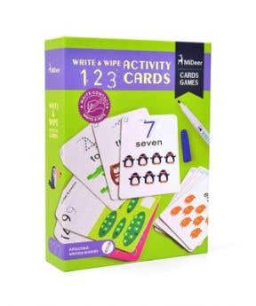 MiDeer Wipe And Write Activity 123 Card