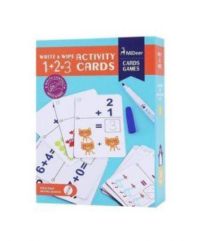 MiDeer Wipe And Write Activity 1+2=3 Card