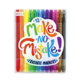 Ooly Make No Mistake Erasable Markers - Set Of 12