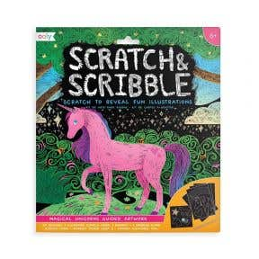 Ooly Scratch & Scribble Art - Magical Unicorns