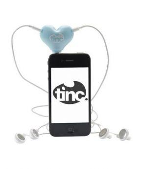 Tinc Headphone Heart Splitter for Music - Blue