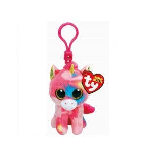 Beanie Boos Multicolor Unicorn Clip Keychain