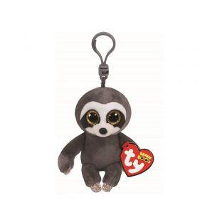 Beanie Boos Dangler Grey Sloth Keychain