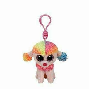 Beanie Boos Multicolor Poodle Keychain