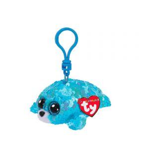Beanie Boos Flippables Sequin Aqua Keychain