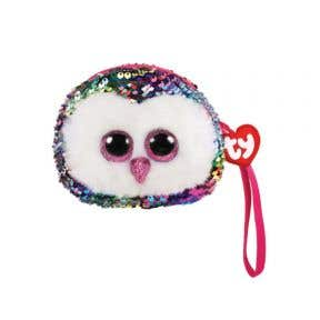 Beanie Boos Sequins Wristlet Owen - Owl