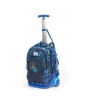 Stardust 2 in 1 Backpack and Trolley - Blue