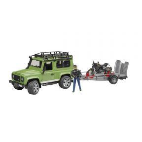 Bruder Land Rover & Ducati Cafe Racer