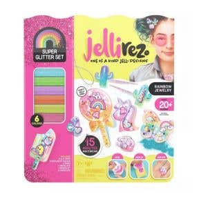 Jelly Rez Super Glitter Set Rainbow Jewelry