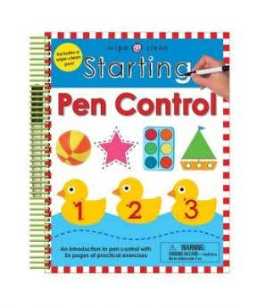 Starbooks Wipe Clean: Starting Pen Control