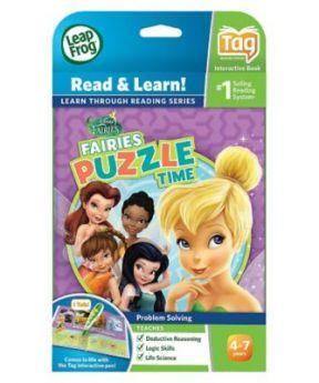 LeapFrog Tag Game Book - Disney Fairies- Puzzle Time
