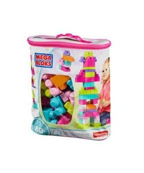 Mega Bloks Classic Buildable Bag - 60 Pieces