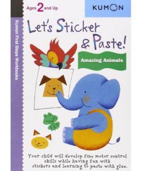 Kumon Let's Sticker & Paste: Amazing Animals