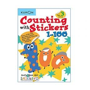 Kumon Counting With Stickers 1-100