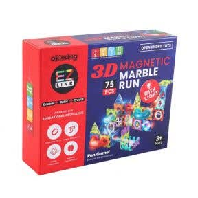 Okiedog EZLink 3D Magnetic Marble With Light 75Pcs