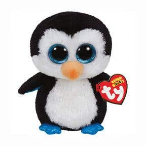 TY Toys Beanie Boos - Waddle Black and White Penguin Regular