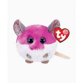 TY Toys Beanie Puffies Colby Purple Mouse