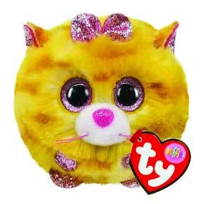 TY Toys Beanie Puffies Tabitha Cat Yellow