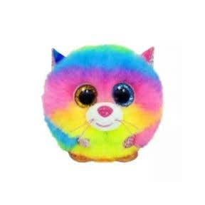 TY Toys Beanie Puffies Gizmo Cat Rainbow