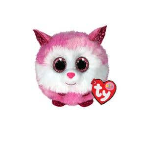TY Toys Beanie Puffies Princess Husky Pink